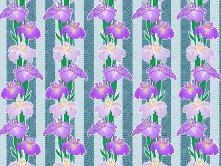 Chiyoko paper Iris (blue)