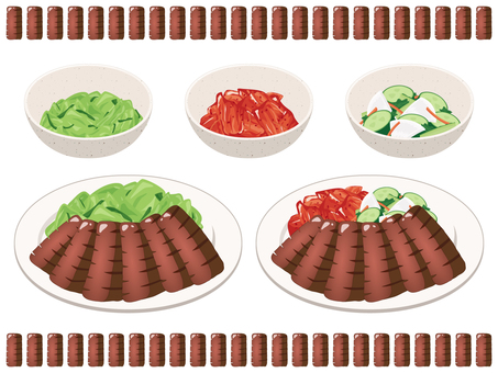 Beef tongue grilled set