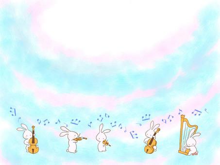 음악회 1 조치 밝은 하늘