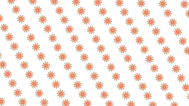 Flower pattern line