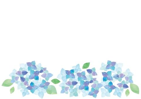 Watercolor hydrangea 4