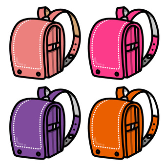 Colorful school bag (for girls)