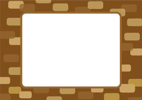 Background brick frame