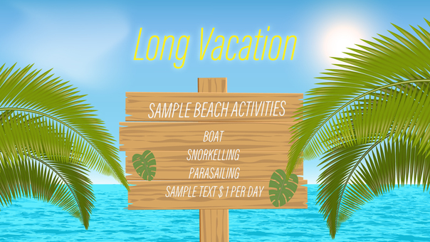Vacation 16: 9 Template Bulletin Board