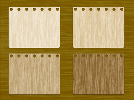 Wood grain card