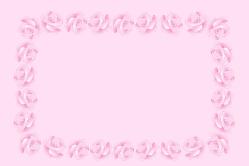 Rose frame, pink