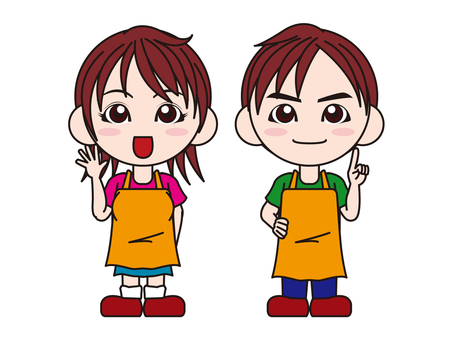 Male and female aprons