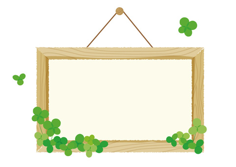 Mini signboard and clover