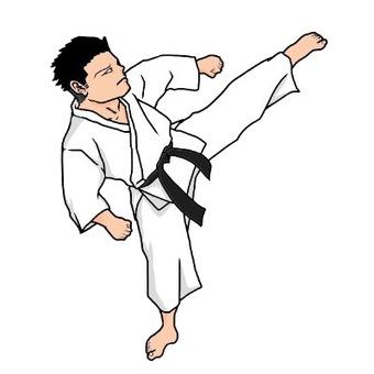 Karate (kick) Illustration
