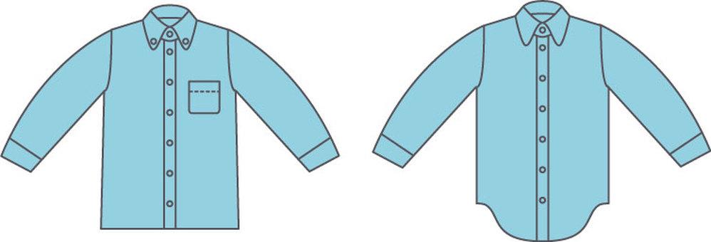 Long-sleeved shirt light blue