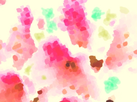 Wandering flowers (warm color)