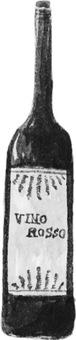 Wine bottle (monochrome)