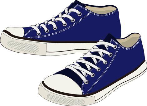 Low-cut sneakers navy
