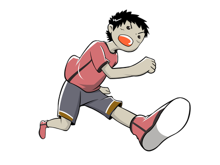 Running boy 1