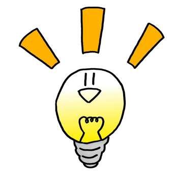 Light bulb / character