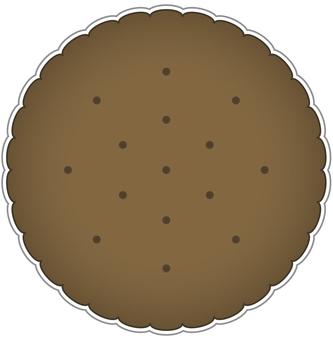 餅乾邊緣可可味道
