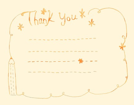 Thank you card orange