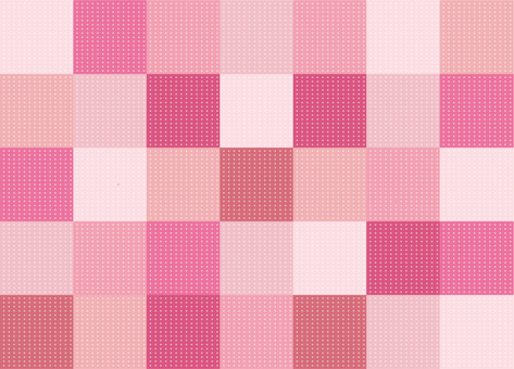 Wallpaper - Patchwork - Strawberry
