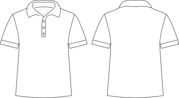 Polo shirt _ front / back _ white