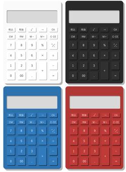 Realistic calculator illustration