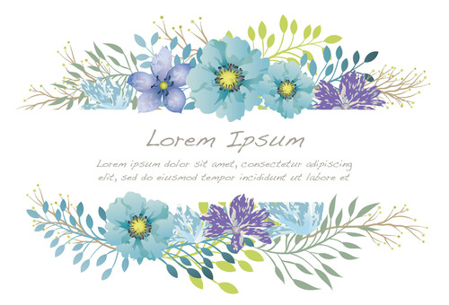 Watercolor style floral background with text space