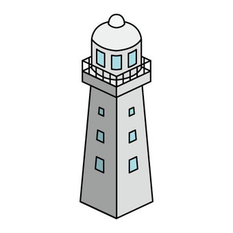 Lighthouse (with window railings)