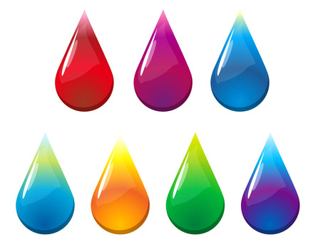 Drop colorfully