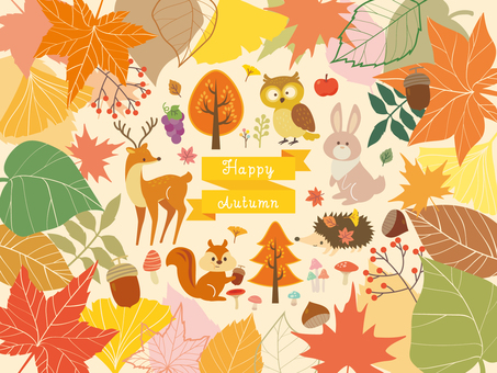 Autumn Forest illustration collection (7)