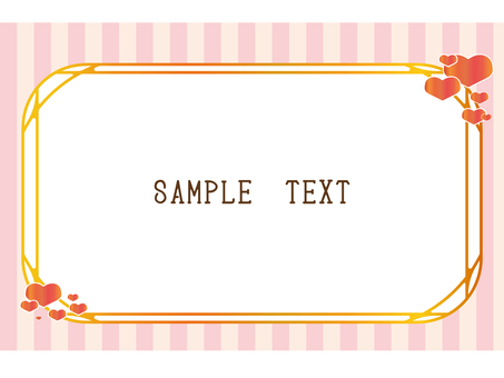 Stripe and heart frame