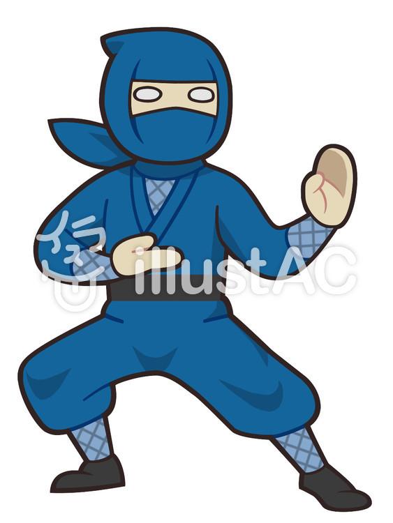 格闘の構えをとる忍者イラスト No 1475458無料イラストなら