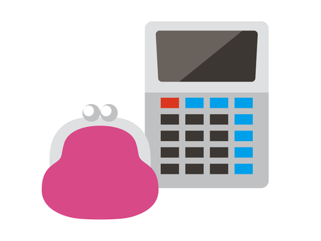 Wallet and calculator _ Icon