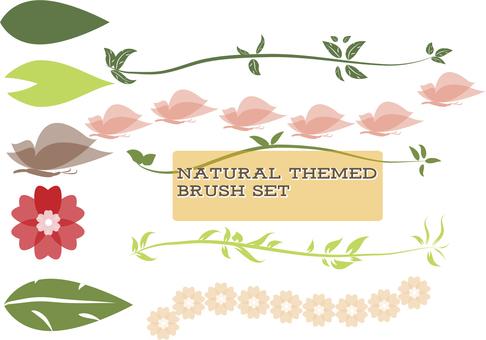 Natural cute brush set