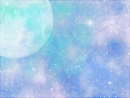 Watercolor moon color
