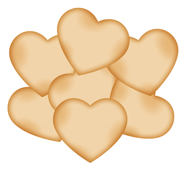 Many heart-shaped cookies