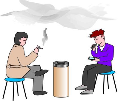 Smoking area Waiting room