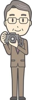 中年男性スーツ-205-全身