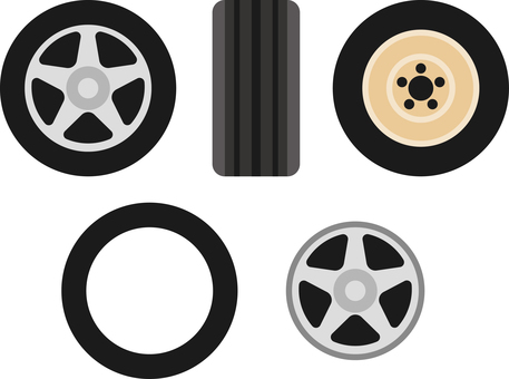 Tire Wheel Icon Set