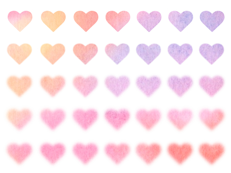 Mini heart set with soft color