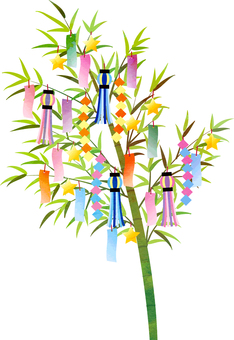 Watercolor style Tanabata ornament transparent ant