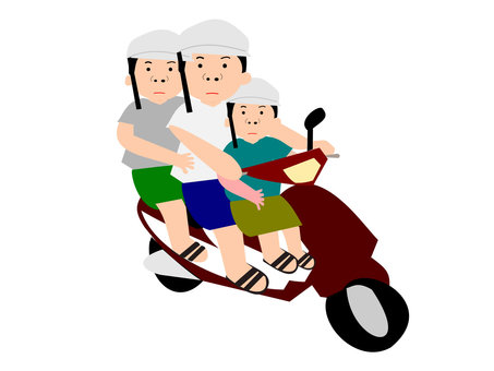 Motorcycle 3 seater