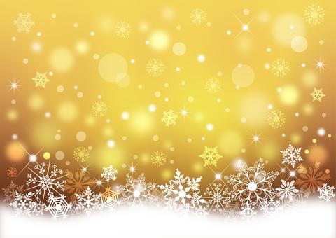 クリスマス_雪結晶_ブラウン背景2323