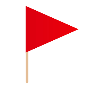 Triangle flag _ red