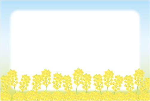 Rape flower field frame