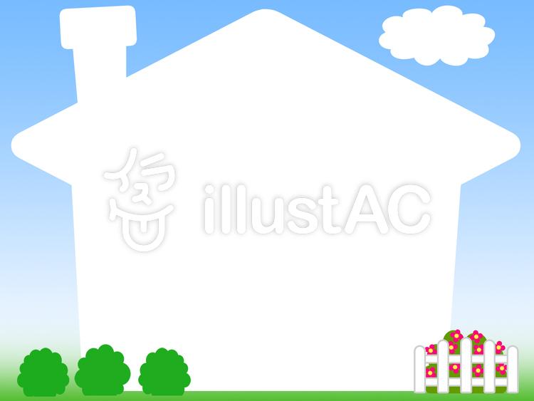 家型フレームシンプル飾り枠イラスト背景イラスト No 857036無料