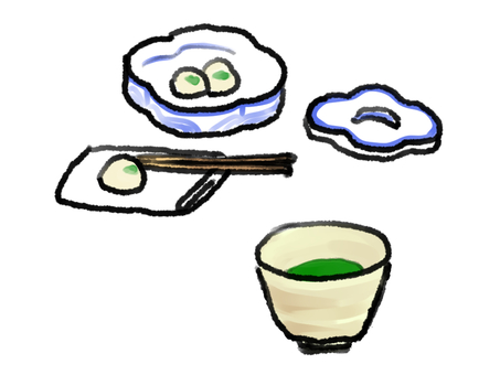 Matcha and Japanese sweets