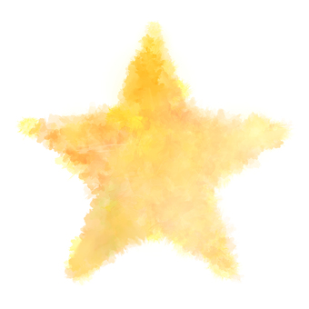 Watercolor style star type ★ Yellow series