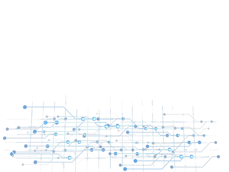 Digital cyber system blue frame 3