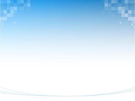 背景_グラデーションx幾何学模様(青)