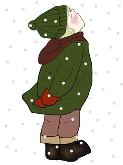 겨울 의류 소년