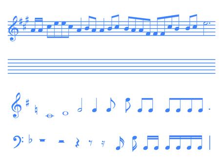 음악 (파랑)